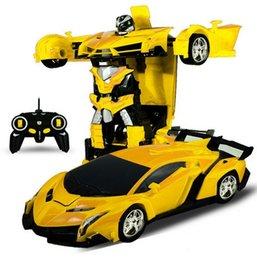 $enCountryForm.capitalKeyWord Australia - Rc Transformer 2 in 1 RC Car Driving Sports Cars drive Transformation Robots Models Remote Control Car RC Fighting Toy Gift