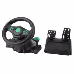 pedal for pc Australia - 180 Degree Rotation Gaming Vibration Racing Steering Wheel With Pedals XBOX 360 For PS2 For PS3 Other Accessories Game Accessories PC USB Ca