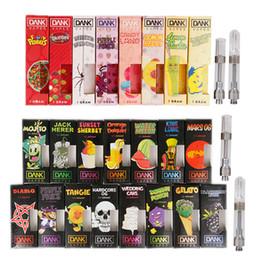 Vape packs online shopping - Dank Vapes Cartridge New Black Pack Thread ml Gram Ceramic Coil Vape Carts mm Intake Hole for Thick Oil