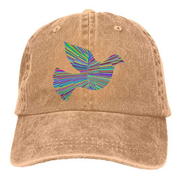 fae452ea6f8 Peace Hats UK - 2019 New Cheap Baseball Caps Dove Psychedelic Peace Mens  Cotton Adjustable Washed