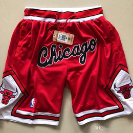 Bulls shorts jersey online shopping - 2018 HOT SALE New Seasons Authentics CHI Running Basketball Jersey Shorts Chicagos states Red black and white Bulls Short Jersey
