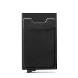 $enCountryForm.capitalKeyWord Australia - Men Aluminum Wallet With Back Pocket Id Blocking Mini Slim Metal Wallet Automatic Up Coin Purse