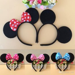 $enCountryForm.capitalKeyWord Australia - Girls hair bows 6 colors hair accessories Mouse ears headband Children hair band kids cute Birthday Party Christmas cosplay headdress hoop
