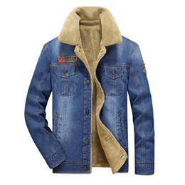 Cowboys Clothes Australia - M-4xl Men Jacket And Coats Brand Clothing Denim Jacket Fashion Mens Jeans Jacket Thick Warm Winter Outwear Male Cowboy