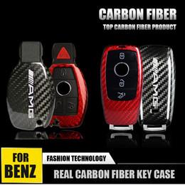 $enCountryForm.capitalKeyWord Australia - Real Carbon Fiber Car Remote Key FOB Case Cover Shell Fit for Mercedes Benz AMG