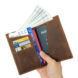 $enCountryForm.capitalKeyWord Australia - Genuine Leather Passport Holder Document Organizer Cover 635-40 Crazy Horse Leather Rfid Credit Card Wallet For Men Travel Y19052202
