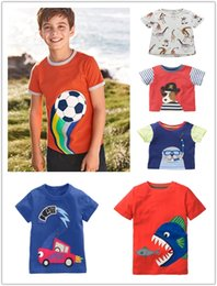 baby boys tees Australia - Summer new Brand boys cotton short sleeve T-shirt baby boy cartoon Tees 6 Styles free shipping