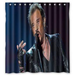 Scenic Curtains Australia - Vixm Shower Curtains Johnny Hallyday Polyester Fabric Bathroom Curtain 66x72 inch