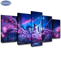 "fairy canvas art UK - the painting,Diamond Embroidery 5 Pieces diy diamond painting""fantasy fairy""mazayka Diamond picture Mosaic Pasted art stitchers"