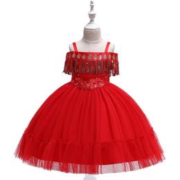 $enCountryForm.capitalKeyWord Australia - children girls Dress Bow Dresses kids Embroidery Flower suspender Dress Tassel Girls Princess Skirt Show Full Dress 3-12 years
