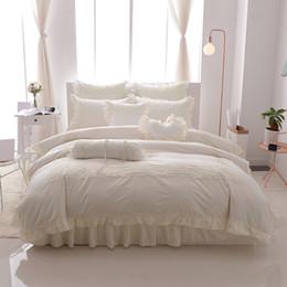 $enCountryForm.capitalKeyWord Australia - Princess style lace bedskirt set twin queen king size bedding 100% cotton soft bedclothes duvet cover bed linen