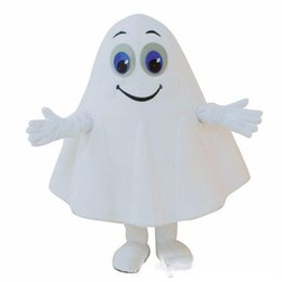 $enCountryForm.capitalKeyWord UK - 2019Halloween White Ghost Mascot Costume Cartoon specter Anime theme character Christmas Carnival Party Fancy Costumes Adult Outfit