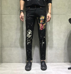 $enCountryForm.capitalKeyWord UK - Men's Europe the United States fashion han version of the new trend slimming personality painted patterns straight tube denim trousers 28-36