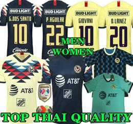 7906888774172 Top qualité thaïlandaise 19 20 maillot de foot américain jaune 2019 2020  troisième club mexicain troisième maillot de football P.AGUILAR O.PERALTA  MATHEUS