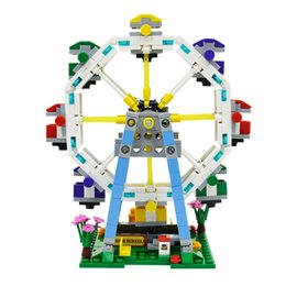 2017 block XB-01106 Collected plastic building blocks game park Ferris wheel mini Street View Collected building blocks children play