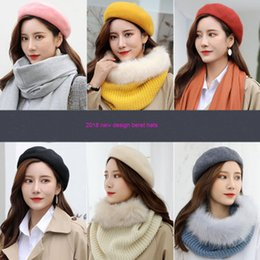 Wholesale British Wool Lady Hats women new design travel Autumn and Winter Thickened Beret soild warm knitted caps