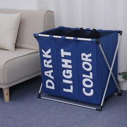 $enCountryForm.capitalKeyWord Australia - Laundry Storage Baskets Dirty Clothing Laundry Basket Oxford Storage Bag Folding Bucket Waterproof Storage Organizer Basket