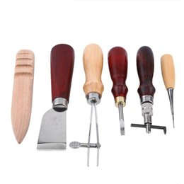 diy tool sets Australia - Professional 6-Piece Leather Craft Tool Set Family DIY Handmade Leather Accessories Leather Production Tool Set SH190918