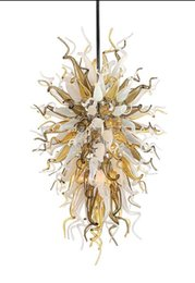 $enCountryForm.capitalKeyWord UK - Italian Style Handmade Blown Murano Glass Chandeliers Customized Colored Handmade Blown Glass Pendant Lights for Hotel Lobby Decor