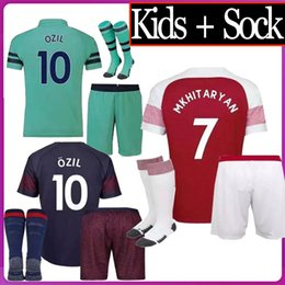 2b8f098020e 2018 2019 Arsenales kids kit cer Jerseys 18 19 LACAZETTE MKHITARYAN XHAKA RAMSEY  WILSHERE AUBAMEYANG OZIL home men child Football shirts