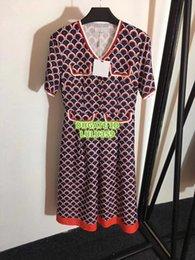 $enCountryForm.capitalKeyWord NZ - Women Brand Scale Twill Dress With Letter Print Girls Short Sleeve T-Shirt Dress Tee Knee-Length Casual Female Runway Dress