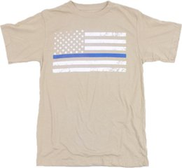 54ef4ef32 Desert Sand Thin Blue Line T-Shirt with White Flag SuALICE IN CHAINS