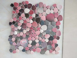 Green mosaic tiles online shopping - 55 square feet porcelain pebble mosaic pink gray white blue green gray ceramic tile backsplash bathroom wall flooring swimming pool tile