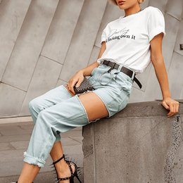 $enCountryForm.capitalKeyWord Australia - Slim Jeans Pants Ripped Ripped Pant Women Denim Long High Waist Streetwear Plus Size Zipper Chain Trousers Belts Pantalones Cool