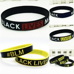 mix color bangle UK - Black Lives Matter!Popular Hot 20Cm Noosa Chunks Snap Button Jewelry Mix Color Fit 18Mm Charm Twist Silicone Bracelet Silicone Bangle Diy #34