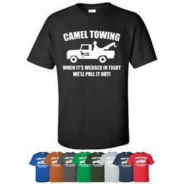 c34647d996 Camel Towing Funny T-Shirt Adult Humor Gift Graphic Tee Shirt Tow Truck  Novelty