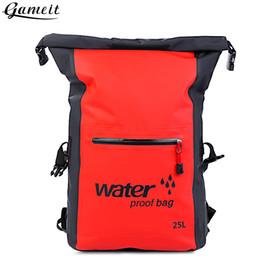 Ingrosso Sport Kayak Nuoto kit da viaggio 25L esterna impermeabile Dry Bag Rafting zaino Sack bagagli Bag rafting per escursionismo