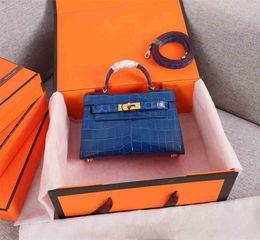 $enCountryForm.capitalKeyWord Australia - Classic Designer Women Handbags Shoulder Bags Tote Purse Shoulder Mini Strap Crossbody Bag High Quality Alligator Leather Women Handbag 19cm