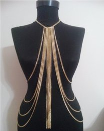 multilayer chains NZ - 2019 New arrival most fashion multilayer Long waist chain imitation pearl body chain necklace wholesale Body Jewelry