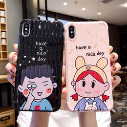 couple case design 2019 - For Iphone Xs Max Xr Phone Case Cartoon Couple Travel Suitcase Design 6 7 8 X Plus TPU Soft IMD Cell Phone Cases discoun
