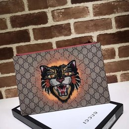 Large canvas cLutch online shopping - Top Quality Luxury Celebrity Design Letter Embossing Canvas Purse Embroidery Bee Large Clutch Genuine Leather Canvas Handbag