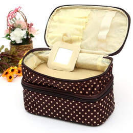 $enCountryForm.capitalKeyWord Australia - Travel Bag Double layer square Cosmetic Bags Portable Storage Bags Double Square Wave Point Polyester fiber Gender specific 6 39dn k1