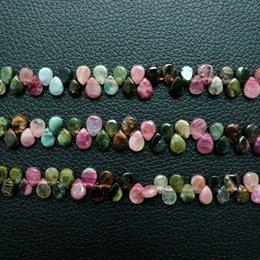 "$enCountryForm.capitalKeyWord Australia - Women's 8SE11180 Natural Multi Color Tourmaline Briolette 5x7mm 15.5"" Strand"