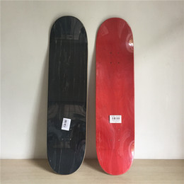 Wholesale Hot Luxury 2pcs lot Blank Colored Skateboard Deck Canadian Maple Skate Decks Red Green & Black Colors Available