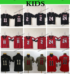 ca249ae5a Youth Atlanta Kids Falcons Julio Jones Football Jerseys 2 Matt Ryan 11  Julio Jones 24 Devonta Freeman Stitched Shirts