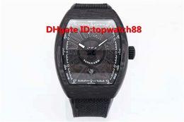 $enCountryForm.capitalKeyWord NZ - R New Luxury Watch Automatic Black Carbon Fiber Dial Sapphire Carbon Fiber Case Rubber Nylon Strap Solid Case Back Luminous Mens Watch