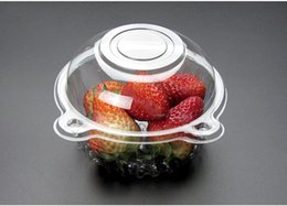 $enCountryForm.capitalKeyWord Australia - Clear Plastic Cupcake Cake Muffin Dome Case Disposable Fruit Salad Holder Boxes Container Packaging Box W9493