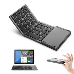 $enCountryForm.capitalKeyWord Australia - Folding Mini Wireless Keyboard Portable Bluetooth Touch Keyboard Full function, light weight, easy carry Casual