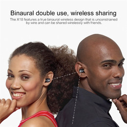 $enCountryForm.capitalKeyWord Australia - Bluetooth V5.0 Binaural Earphone X18 Sport in-ear Wireless Stereo headset for Mobile phones with 400mAh Charging Box