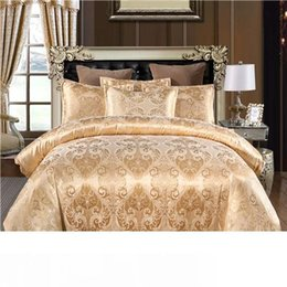 jacquard bedding set queen Canada - Luxury Jacquard Bedding set Single Queen King Size Duvet Cover Set Bed Linen Quilt Cover Set