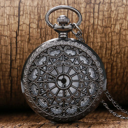 $enCountryForm.capitalKeyWord NZ - pocket watch Vintage Black Spider Web Pocket watch with Chain Necklace Pendant Steampunk Hour Antique Necklace P242