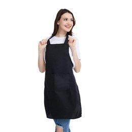$enCountryForm.capitalKeyWord Australia - 12 Pack Bib Apron - Unisex Black Apron Bulk with 2 Roomy Pockets Machine Washable for Kitchen Crafting BBQ Drawing