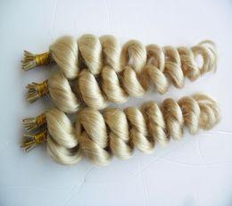 $enCountryForm.capitalKeyWord Australia - 613 Bleach Blonde Virgin Brazilan Loose Wave Hair 400S 1G S Pre Bonded Nail Stick I TIP Human Hair Extensions Keratin Italian Hair Extension