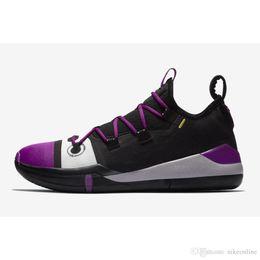 purchase cheap 7db53 27bae Men Kobe AD basketball shoes Tour Yellow Strike Purple Black New colors KB  12 xii elite nxt 360 low cut sneakers tennis swith box for sale