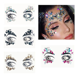 Face Jewels Gems Temporary Tattoo Stickers Festival Party Makeup Body Art  Gems Rhinestone Flash Tattoo Sticker Stage Make Up d058fc8c18bc