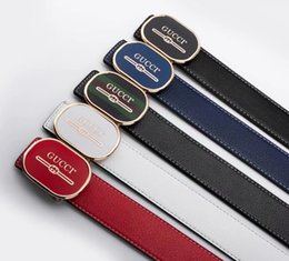 $enCountryForm.capitalKeyWord Australia - 2019 men's Famous Brand leather belt Luxury fashion casual belt smooth buckle Waistband trend men hih quality belts iven as a ift